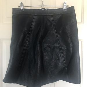 ZARA Faux Leather Mini Skirt